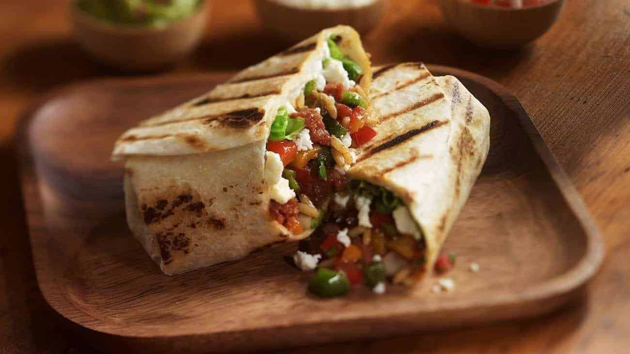 Grilled Spicy Sausage Burritos