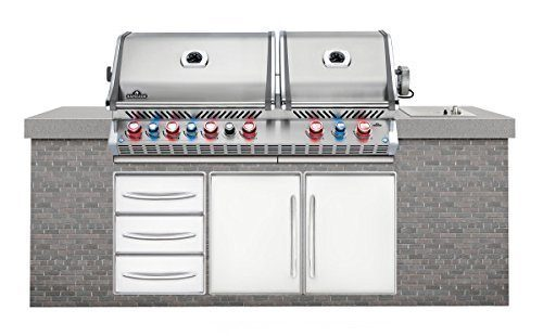 Napoleon Prestige Pro 825 Built in Grill with Infrared Rotisserie Burner