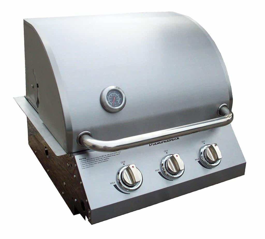 DiamondBack Built-in Grill 3 Burner Propane LP Natural Gas