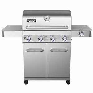 Monument Grills 17842 Stainless Steel 4 Burner Propane Gas Grill